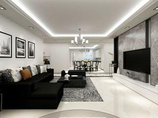 现代简约混搭客厅装修效果图