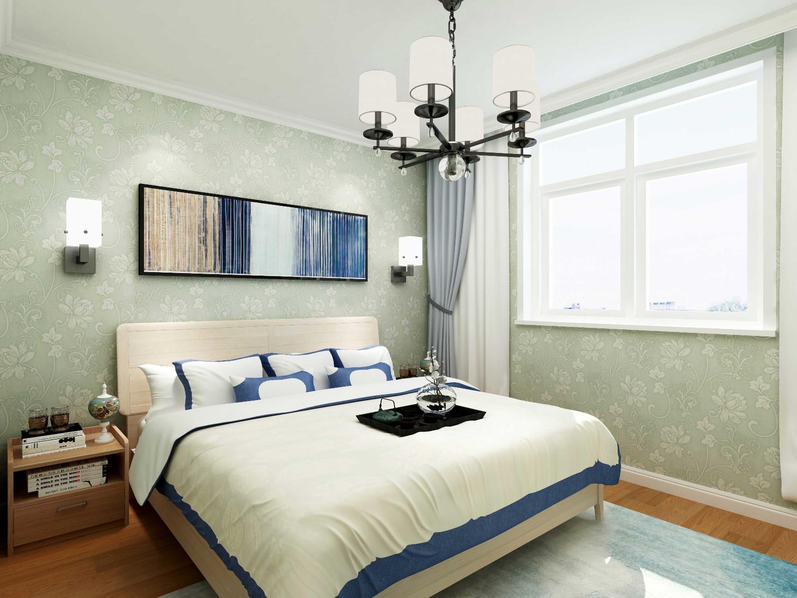 现代简约混搭卧室装修效果图