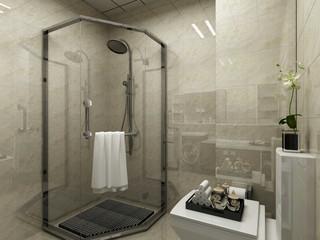 现代简约混搭卫生间装修效果图