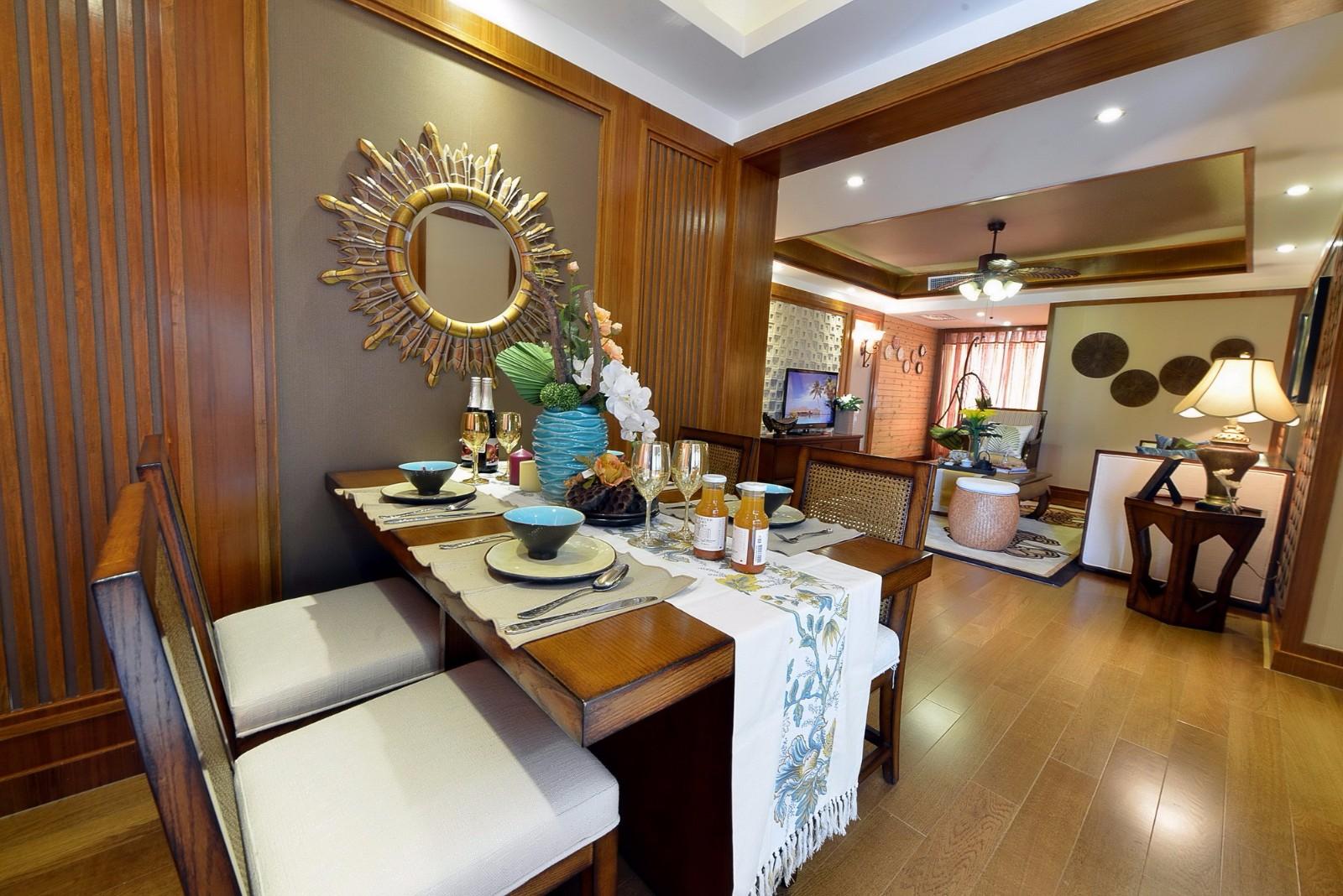 东南亚风格三居餐厅每日首存送20
