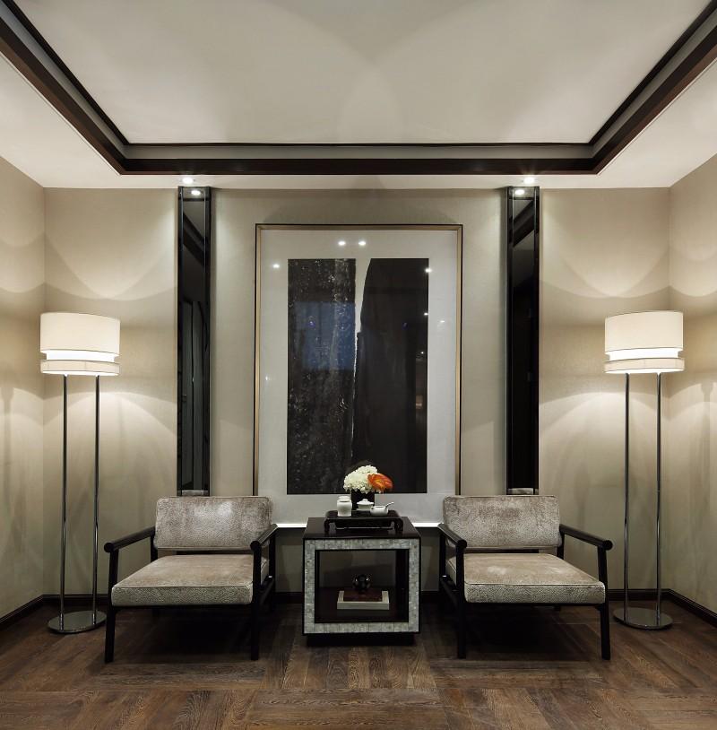 新中式风格别墅休闲区装修效果图