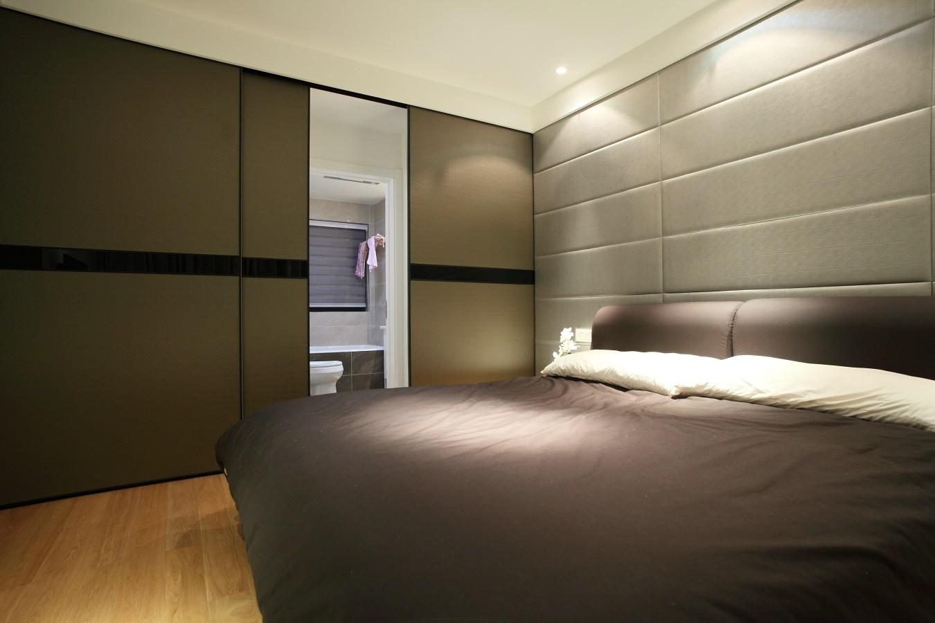 现代简约二居卧室装修效果图