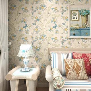 清新花朵卧室壁纸效果图