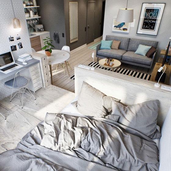 现代简约卧室装潢图