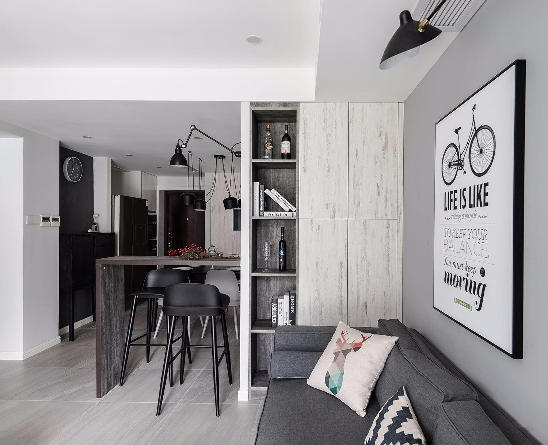 80㎡北欧风格两居壁柜装修效果图