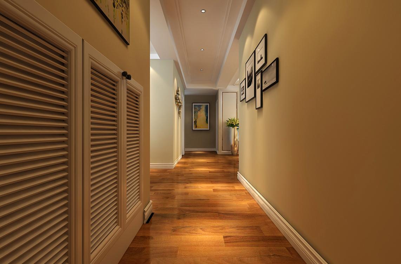 暖色调现代简约风格玄关走廊装修效果图