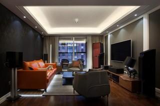 灰色调现代简约三居客厅装修效果图