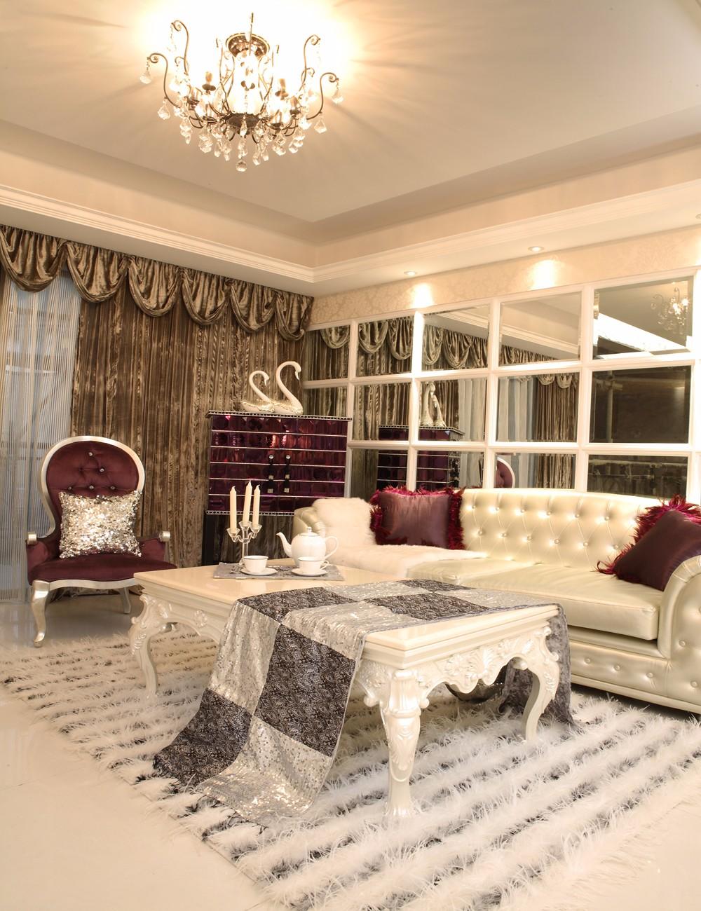三居室欧式风格客厅装修效果图