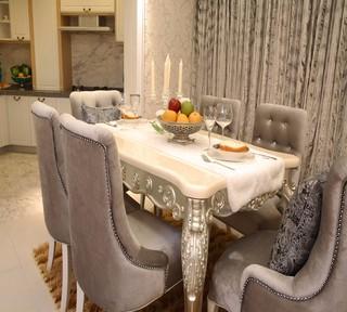 三居室欧式风格装修餐桌椅设计图