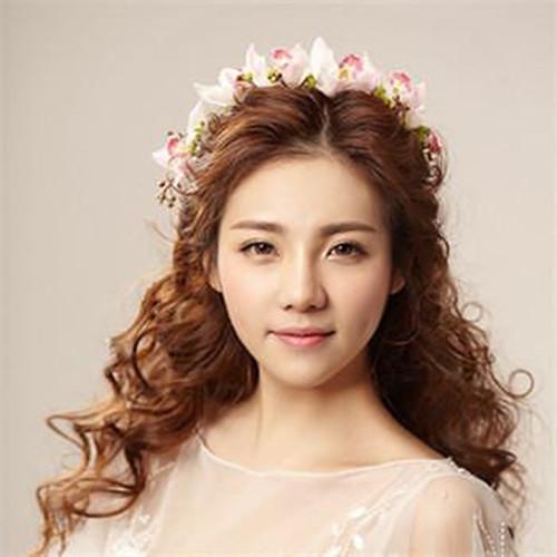 可爱新娘发型图片欣赏 217五款流行的可爱新娘发