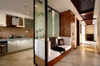 现代中式风格别墅厨房隔断装修效果图