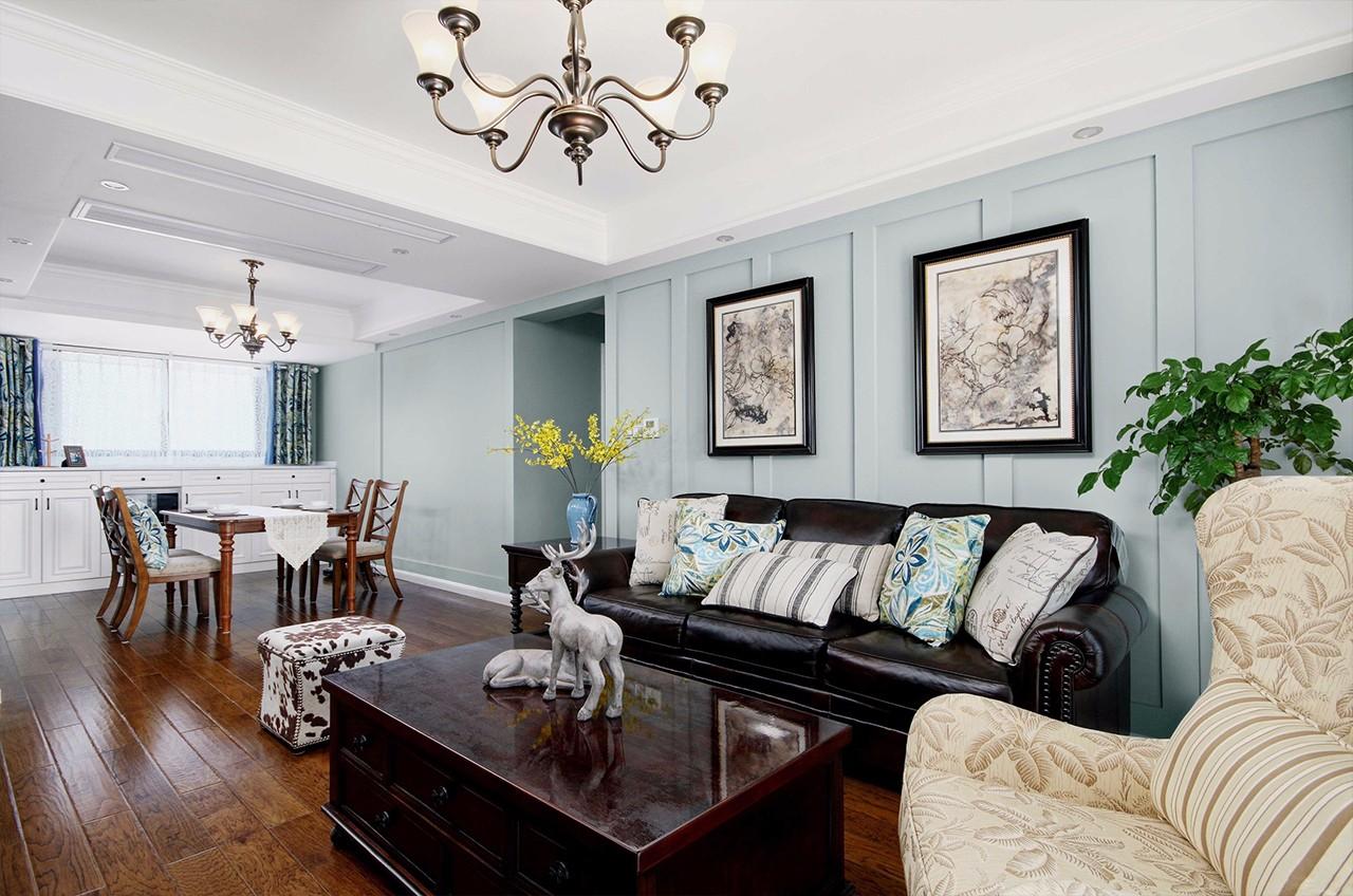 130㎡美式风格客厅装修效果图
