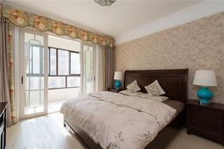 123平美式风格卧室装修效果图