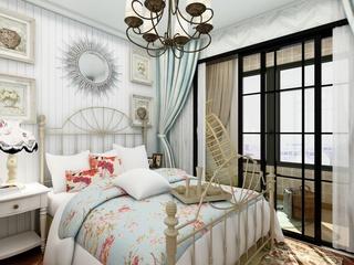 90平地中海风格卧室装修效果图