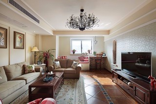 美式风格三居装修设计图