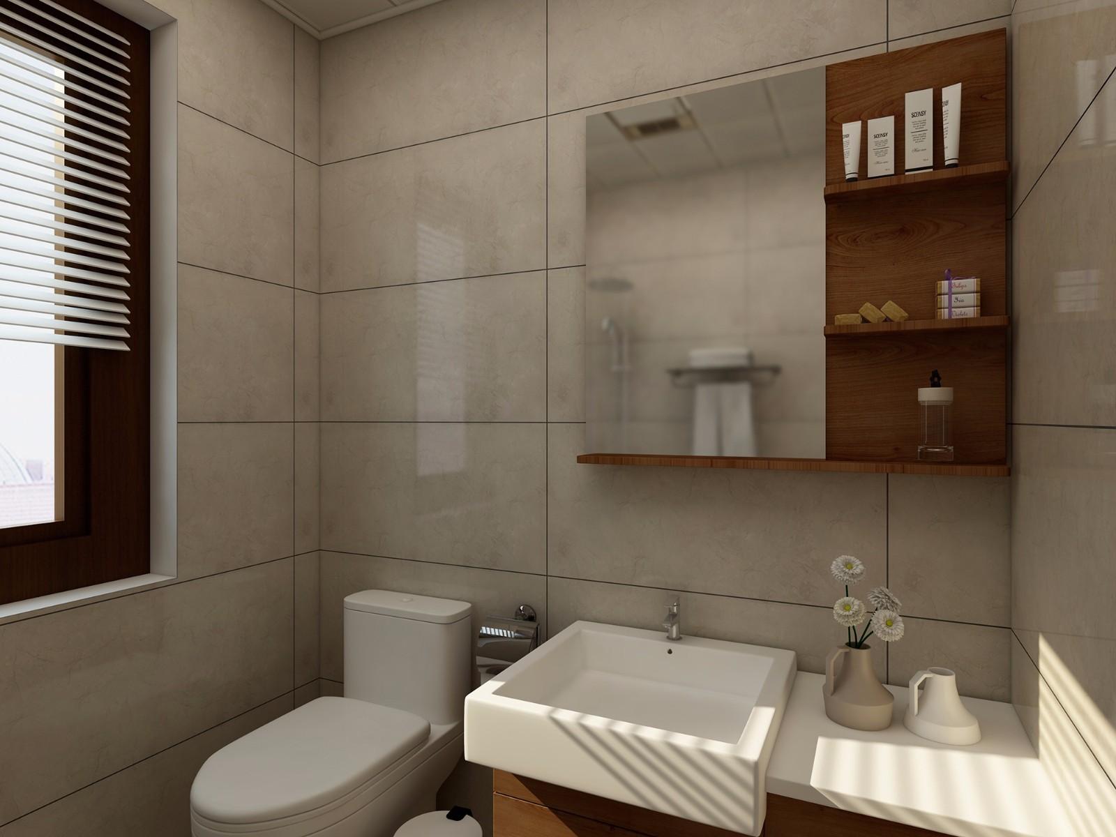 简约中式风格卫生间装修效果图