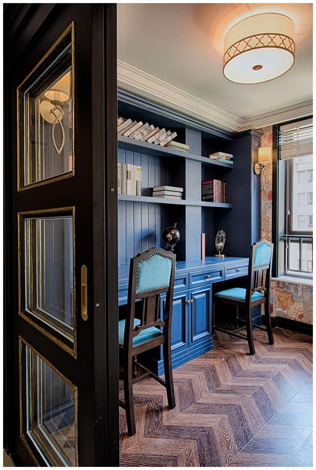 美式新古典风格书房装修效果图