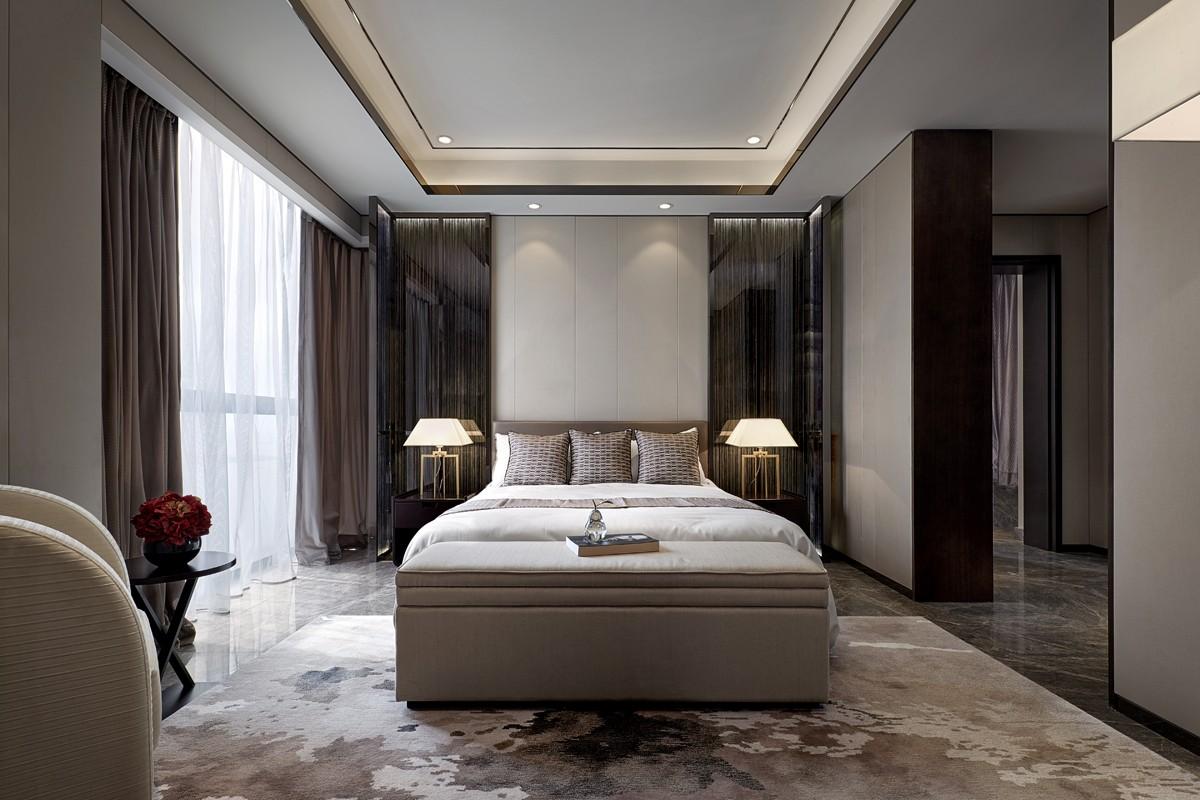 120㎡现代简约卧室装修效果图