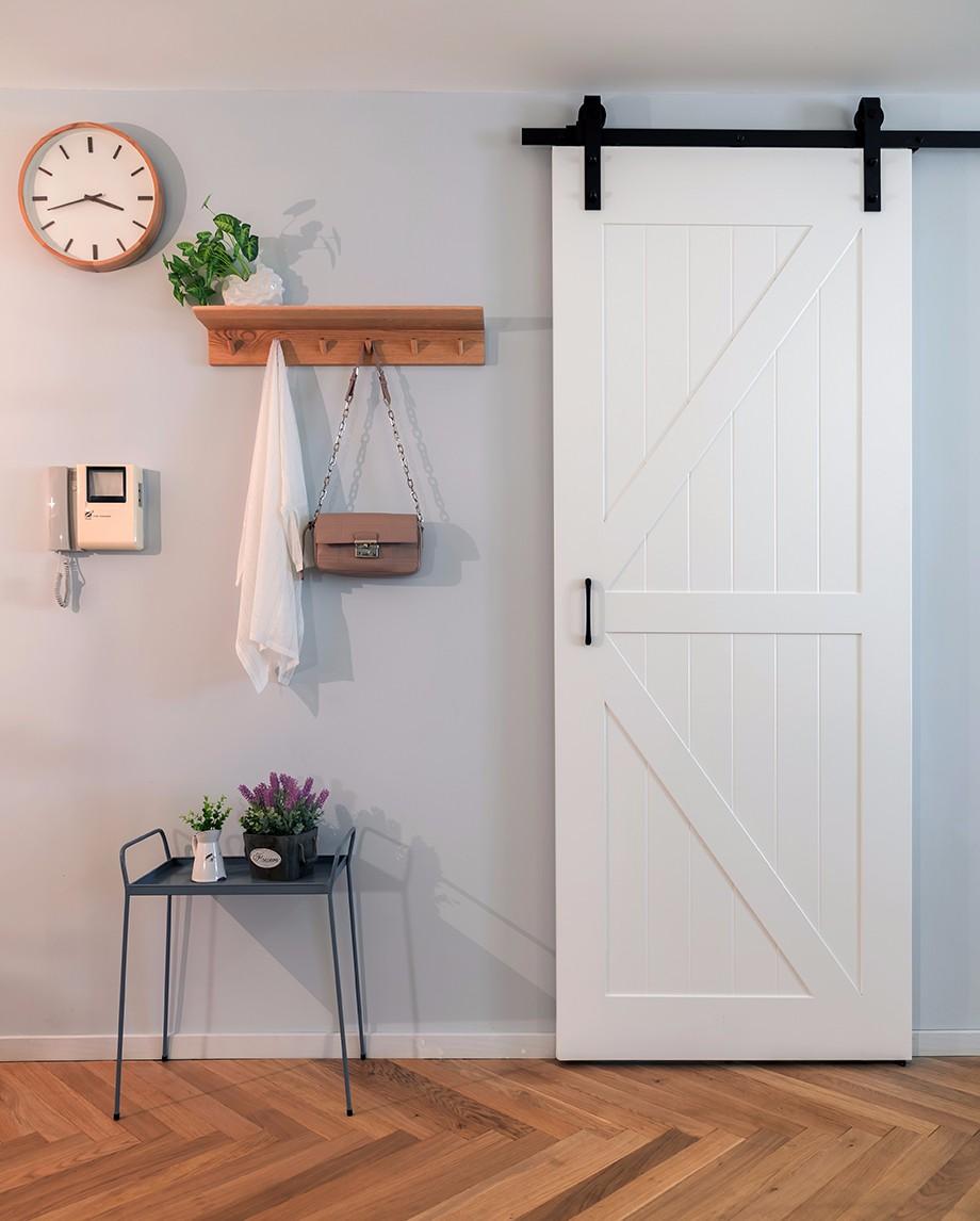 两居室北欧风格谷仓门装修效果图
