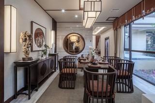 新中式风格别墅餐厅装修设计图