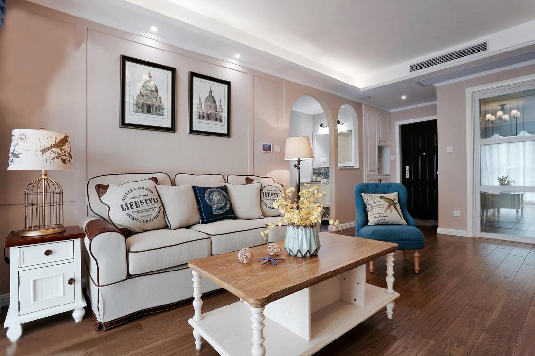 二居室简美风格装修效果图