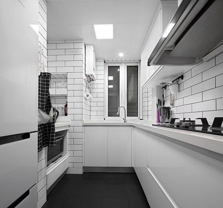 纯净北欧风格装修厨房效果图