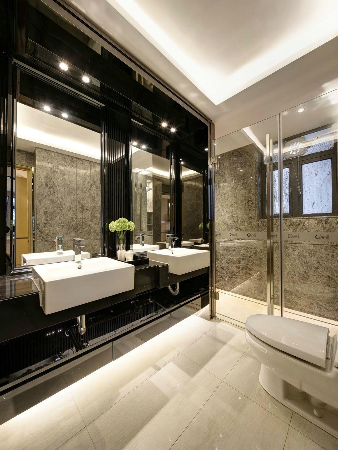 现代简约样板房卫生间装修效果图