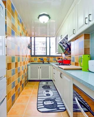88平地中海风格厨房装修效果图