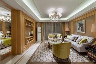 112平欧式风格客厅装修效果图