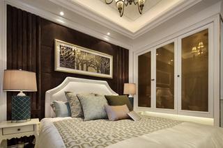 欧美风格三居卧室装修效果图