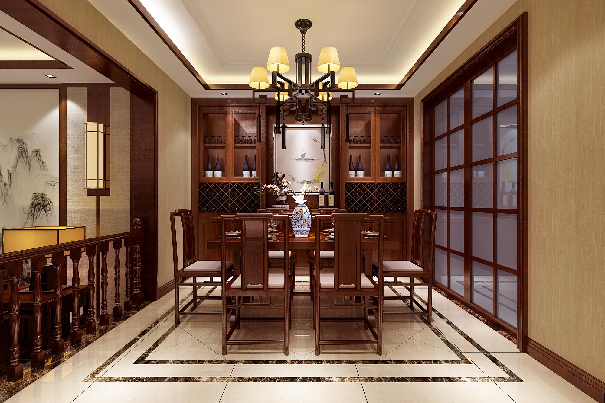 新中式风格餐厅设计效果图
