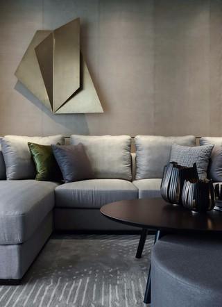 简约现代风格样板间装修沙发布置图