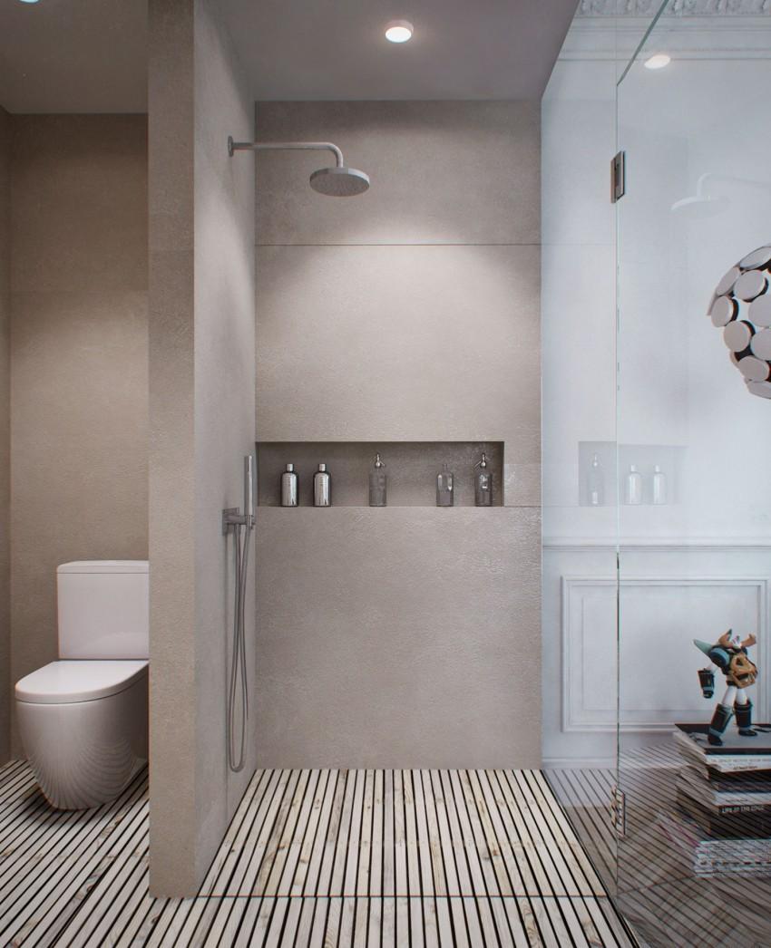 一居室简约风公寓卫生间装修效果图