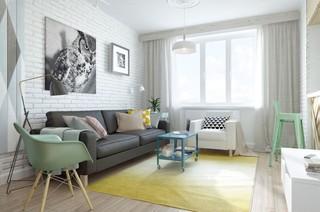 45㎡北欧风格公寓装修效果图