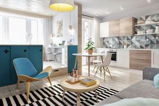40㎡北欧风格公寓装修效果图