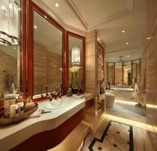 新古典风格样板间卫生间装修效果图