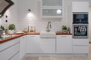 118平米白色公寓厨房装修效果图