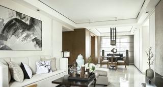 三居室新中式风格客厅每日首存送20
