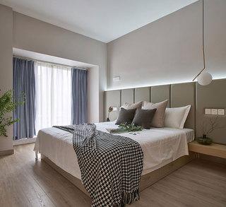 现代简约风格装修卧室实景图