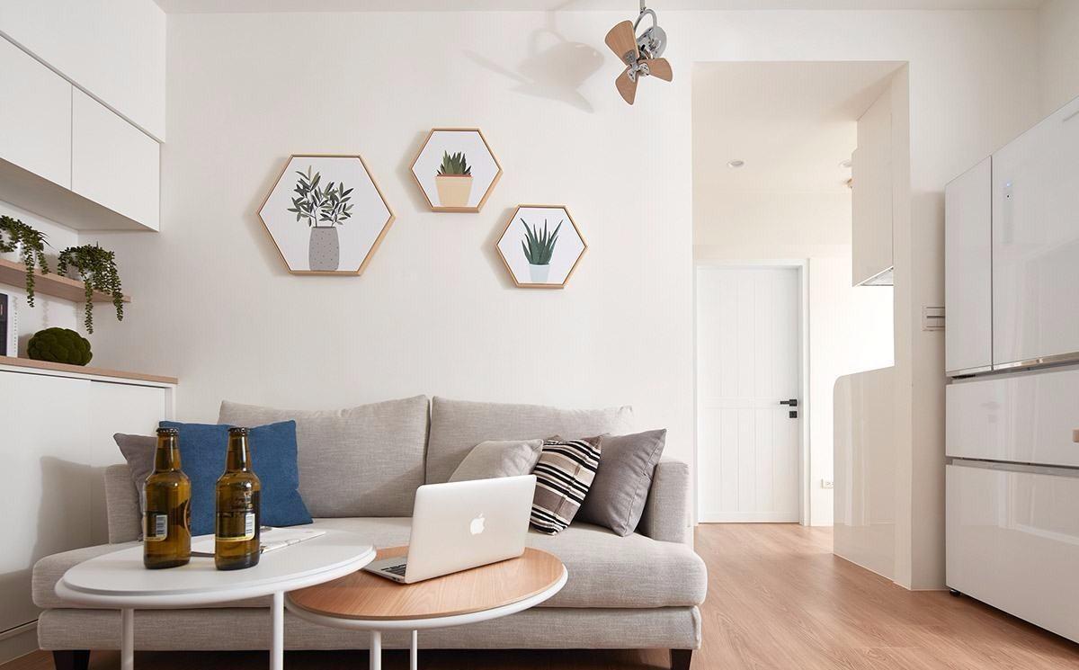 小户型二居沙发墙装修效果图