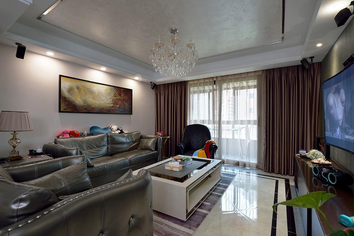 170平混搭风格沙发背景墙装修效果图