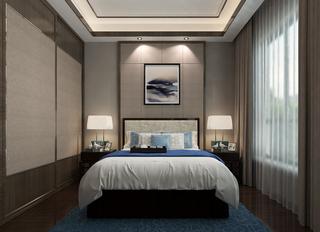 新中式风格卧室装修注册送300元现金老虎机图