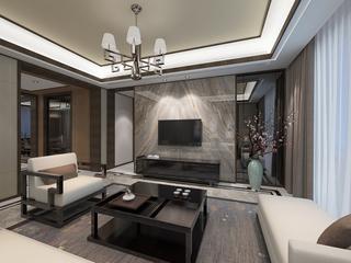 新中式风格电视背景墙装修效果图