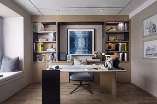 现代简约风格样板房书房装修效果图