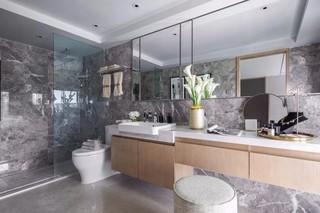 现代简约风格样板房卫生间装修效果图