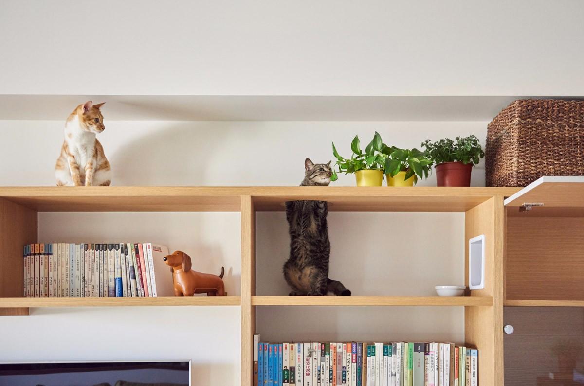 MUJI风格二居装修书架设计图
