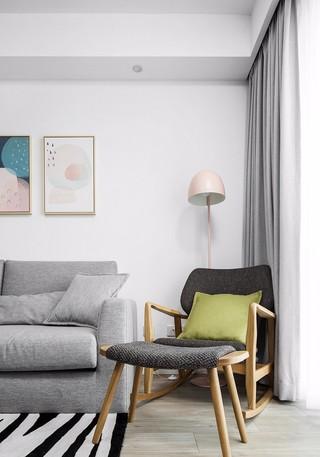 简约北欧二居室装修沙发椅设计图
