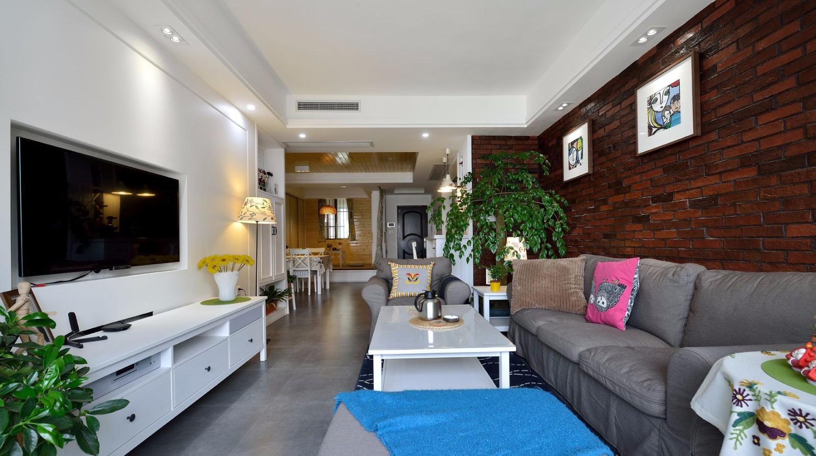 85平米二居室客厅装修效果图