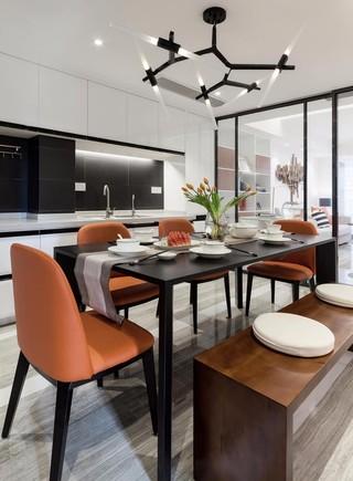 105平现代简约餐厅装修效果图