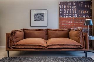 110平简约现代风装修沙发设计图